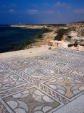 The Wonderfully Intact Byzantine Mosaics of the Roman Baths at Sabratha, Sabratha, Libya Photographic Print by Patrick Syder