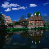 Oast Houses on the River Medway, Yalding Near Maidstone, Kent, England Photographic Print by David Tomlinson