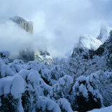 Winter Covers El Capitan and Bridal Vale Falls, Yosemite National Park, California, USA Photographic Print by Wes Walker