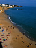 People on Beach, Albufeira, Algarve, Portugal, Photographic Print by Roberto Gerometta