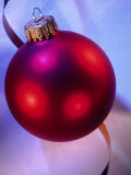 Red Christmas Ornament Photographic Print by Ellen Kamp
