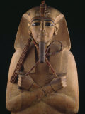 Wooden Coffin Case of the Pharaoh Ramses II Fotografisk tryk af O. Louis Mazzatenta