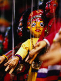 Marionettes of Hindu Deities Hanging Outside Shop, Kathmandu, Nepal Photographic Print by Ryan Fox