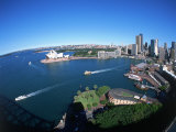 Harbor & City, Sydney, Australia Photographic Print by David Ball