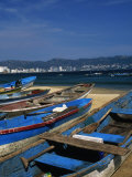 Fishing Boats on the Beach, Acapulco Photographic Print by Angelo Cavalli