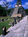 Temple Ii from North Acropolis, Tikal, Guatemala Reproduction photographique par John Elk III