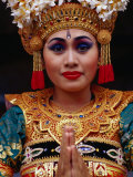 Portrait of Traditional Dancer in Costume, Ubud, Indonesia Photographic Print by Michael Coyne