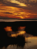 Sunset over a Salt Marsh with Cordgrass Photographic Print by Raymond Gehman
