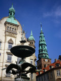 The Stork Fountain with Buildings in Background, Copenhagen, Denmark Photographic Print by Charlotte Hindle