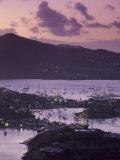 Sunset View of Historic Nelson's Dockyard, Antigua Photographic Print by Walter Bibikow