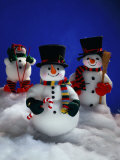 Three Christmas Snowmen Photographic Print by Jim McGuire