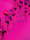 People Riding Bicycles Photographic Print by Harold Wilion