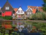 Waterfront Houses, Volendam, North Holland Photographic Print by Walter Bibikow