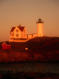 Museum and Portland Head Light House at Cape Elizabeth, Portland, Maine, Portland, USA Photographic Print by Mark Newman