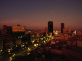 Mexico City at Night Photographic Print by Angelo Cavalli