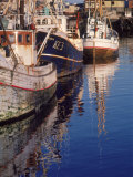 Fishing Boats in Harbor, Keflavik, Iceland Photographic Print by Ron Rocz