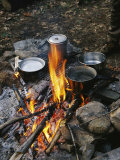 Cooking over a Campfire on the Middle Fork of the Feather River Photographic Print by Skip Brown