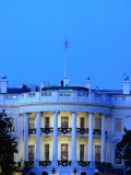 Exterior of White House at Dusk, Washington Dc, USA Photographic Print by Johnson Dennis