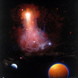 Space Illustration Photographic Print by Ron Russell