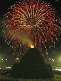 Fireworks Commence the Celebration of the Feast of San Antonio Abate Photographic Print by O. Louis Mazzatenta