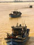 Fishing Boat, Han River, Danang, Vietnam Photographic Print by Walter Bibikow