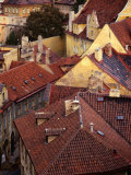Rooftops of Houses, Prague, Czech Republic Photographic Print by Rick Gerharter