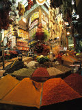A Lively and Colorful Spice Market and Grocery Shop Photographic Print by Tim Laman