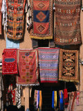 Carpets and Rugs Hanging Outside Shop, Agdz, Morocco Photographic Print by John Elk III