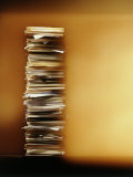 Stack of Papers Photographic Print by Dennis Lane