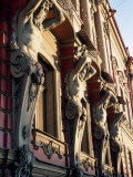 Detail of Building, St. Petersburg, Russia Photographic Print by Jeff Greenberg