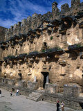 Tourists at Roman Theatre Stage, Aspendos, Turkey Photographic Print by Simon Richmond