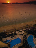 Sunset Over Acapulco Bay, Acapulco, Mexico Photographic Print by Walter Bibikow
