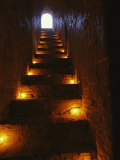 Narrow Staircase Lit with Candles Inside Dhamma-Yan-Gyi Temple Photographic Print by Richard Nowitz