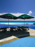 A Swimming Pool Overlooks the Caribbean Sea at a Resort in Cancun Photographic Print by Michael Melford