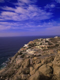 Cliffside Homes, Cabo San Lucas, Mexico Photographic Print by Walter Bibikow
