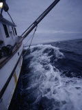 Fishing Boat in Stormy Waters, AK Photographic Print by Jim Oltersdorf