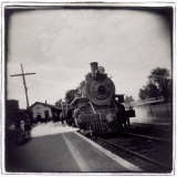 Train Pulling Into Station Photographic Print by John Glembin