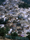 Overhead of Moulay Idriss, Meknes, Morocco Photographic Print by John Elk III