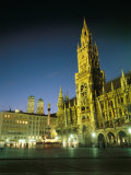 The Marienplatz at Night Photographic Print by Taylor S. Kennedy