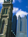 Contrast Between Three City Towers Photographic Print by Bruce Leighty