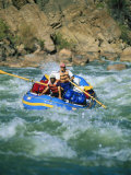 People White-Water Rafting on Colorado River Photographic Print by Amy And Chuck Wiley/wales