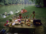 Family at a Picnic Photographic Print
