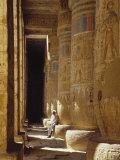 Egypt, West Bank, Luxor, Medinat Habu Fotografie-Druck von Michele Burgess