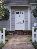 Walkway and Front Door of House Photographic Print