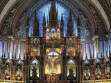 Notre Dame Cathedral, Montreal, Quebec, Canada Photographic Print