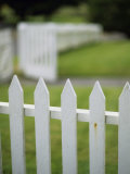 White Picket Fence Photographic Print