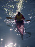 Kayaker in Sparkling Water Photographic Print