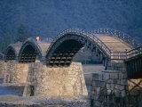 Brocade Sash Bridge (Kintaikyo Bridge), Iwakuni, Honshu, Japan Photographic Print
