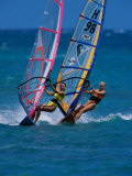 Portrait of Two Young Women Windsurfing Photographic Print