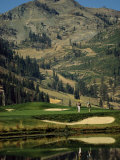 Golfcourse at the Foot of the Hill Photographic Print